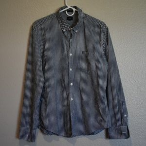 J. Crew Blue & White Checked Shirt